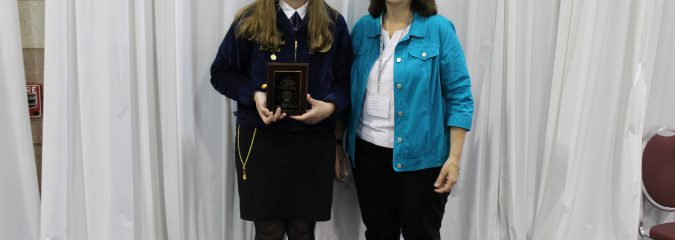 Congratulations to our very own Mrs. Allen who was honored tonight on stage at the NYS FFA Convention as an Officer Advisor
