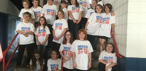American Young Voices Concert – SSCS 4th Grade Class at The Times Union Center.