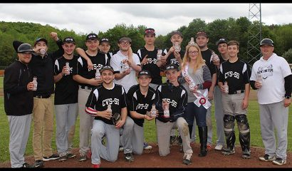 CVS-SS Boys Varsity Baseball Team Celebrates Their First Round Section 4 Baseball victory against Worcester on 5/24/19